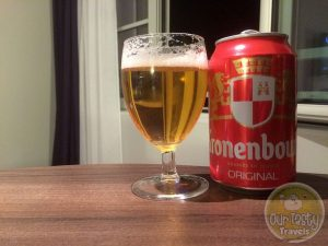 13-May-2015 : Kronenbourg by Brasseries Kronenbourg. Not the 1664 you usually find exported around the world, but the Original blonde beer. More a lager, but with a bit more body to it. #ottbeerdiary
