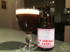 4-Feb-2015 : La Speciale Fetes by Brasserie de Bouillon. A very carbonated beer. Almost gushed from the bottle but I poured in time. Little flavor at first due to the excessive carbonation, but after sitting in the glass a while, the fruity and spice flavors emerge. #ottbeerdiary