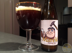 20-Jan-2015 : Mareklop Belgian Quad by 't Hofbrouwerijke from Beerzel, Belgium. Lots of carbonation, gushed from the bottle. Strong toffee flavor, stronger alcohol flavor. #ottbeerdiary