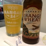 2-Mar-2015 : Orange Wheat by Hangar 24 Craft Brewery : Crisp, Tangy, and Refreshing. The citrus aroma, light airy mouthfeel, and tangy finish are this unfiltered beer's trademarks. This is accomplished by adding whole locally grown oranges throughout the brewing process, which perfectly coalesce with the wheat and barley base. Our oranges are purchased through the Old Grove Orange company (affiliate of the non-profit Inland Orange Conservancy) whose main objectives are to save the local orange trees from disappearing, spread the word about the local citrus growing heritage, and to feed the hungry with the unutilized oranges. Please visit them at www.inlandorange.org. All we need to do to save the orange trees is to eat or drink locally grown oranges! #ottbeerdiary