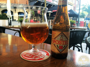 20-April-2015 : Postel Blonde by Affligem Brouwerij. A decent blonde beer to enjoy on the patio while waiting on coworkers for dinner. #ottbeerdiary