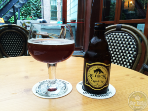 15-Aug-2015: Reinaert Grand Cru by De Proefbrouwerij. Belgian Strobg Dark Ale of 9.5%. A very interesting flavor profile. Lots of spices and malt. Quite tasty in fact. #ottbeerdiary