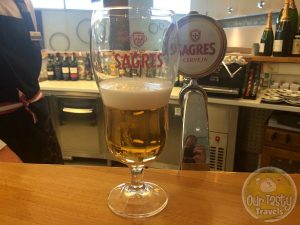 11-May-2015 : Sagres Branca by Sociedade Central de Cervejas e Bebidas SA. A basic Pilsner from Portugal. #ottbeerdiary