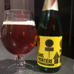 23-Jan-2015 : Sans Frontiere White wine barrel aged by To Øl from Copenhagen. A lovely beer! A Belgian blonde at its base, but with hints of grape from the barrel and a sour finish from the brettanomyces. #ottbeerdiary