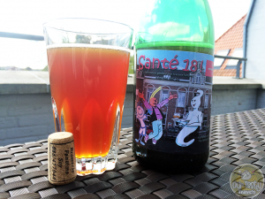 18-April-2015 : Santé-18! by Brasserie Fantôme. Tastes like a fine blend of a lambic, a saison, and a cider. Very tasty, with the sour, the funk, and the apple all coming through. #ottbeerdiary