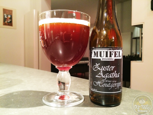 19-Feb-2015 : Zuster Agatha Houtgerijpt by Muifelbrouwerij. Their Winter 2014 beer. Dutch Quadrupel brewed once each winter with a light wood maturation, providing slightly roasted malts with hints of vanilla. #ottbeerdiary