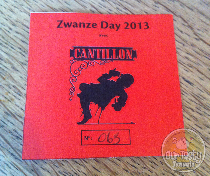 Cantillon Zwanze Day 2013 Ticket for 1 Glass of Zwanze